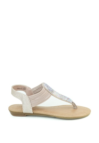 London Rag pink T-Strap Slingback Sandals 7DAD0SH97CBA92GS_1