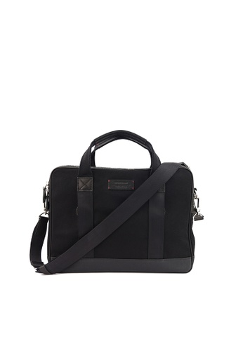 Gnome and Bow black ASPEN Slim Briefcase in Jet Black CD79EACFCF9552GS_1