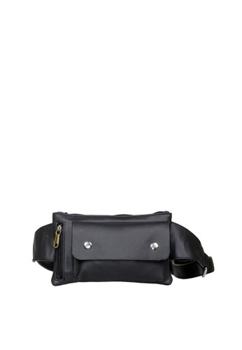 Ceviro black Ceviro Tera Stylish and Multifuction waist Bag Tas Pinggang Black 30F30AC89FF166GS_1