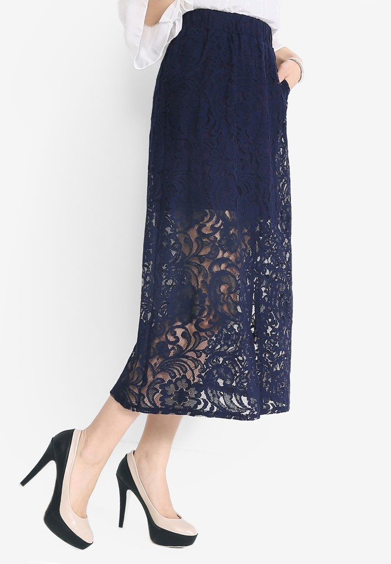 Lace Skirt with Front Slit
