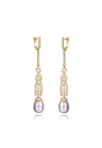 A.Excellence purple Premium Purple Pearl Elegant Earring 92C5EACEEA54EAGS_1