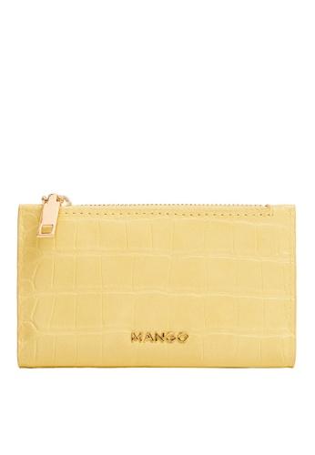 Mango yellow Croc-Effect Wallet 22023ACFDDE89CGS_1