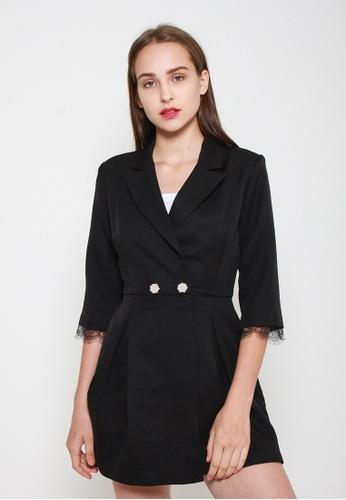 Leline Style black Tinley Romper EEAB7AA2C33535GS_1