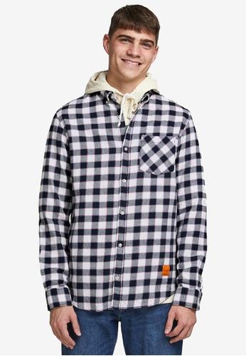 Jack & Jones navy Camden Long Sleeves Shirt 28B06AA284F637GS_1