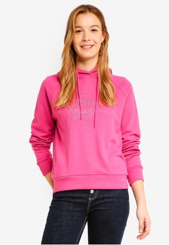Vero Moda pink Voyage Bon Long Sleeve Hoodie C6D70AA2FF38CDGS_1