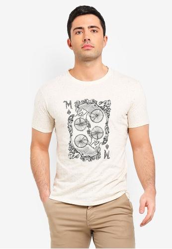 MANGO Man 米褐色 印花T恤 5340FAAC536105GS_1