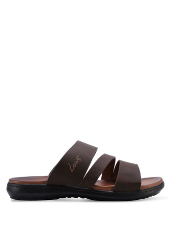 Louis Cuppers brown Triple Strap Sandals 65020SH27FB9DEGS_1
