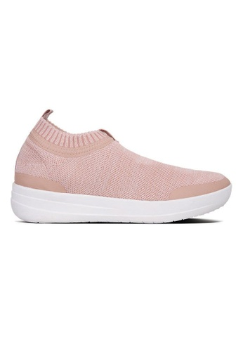 cae93c179 Fitflop pink Fitflop Uberknit Slip-On Sneakers (Neon Blsh Urban Wt)  F50BFSHACBF94EGS 1