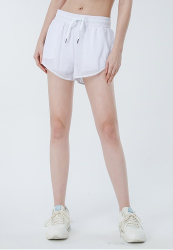 HAPPY FRIDAYS 輕薄網紗拼接運動外罩短褲DSG517 899BAAA3E4CE1DGS_1