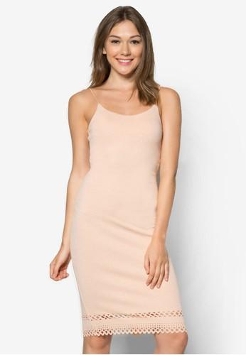 鐳射雕花細肩帶zalora 心得洋裝, 服飾, 服飾