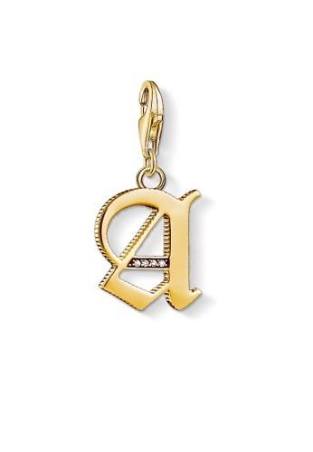 "THOMAS SABO gold Charm pendant ""letter A gold B76C2AC8E5BCE1GS_1"