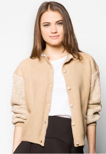 珍珠羊毛拼袖外套、 服飾、 夾克 & 大衣InnerCircle珍珠羊毛拼袖外套最新折價