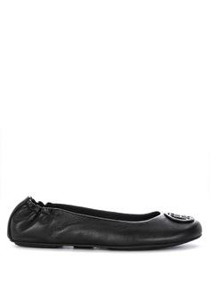 7c8123022384 Tommy Hilfiger black Flexible Leather Ballerina Shoes 6F686SH398079BGS 1