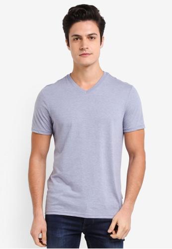 Burton Menswear London blue Light Blue V-Neck T-Shirt 3AB0AAA63B582FGS_1