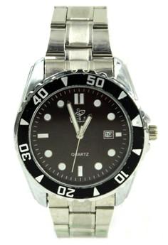 Valia Lane Unisex Brown Stainless Steel Strap Watch 8168