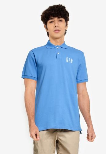 GAP blue Logo Pique Polo Shirt 35DCAAA6320D3CGS_1