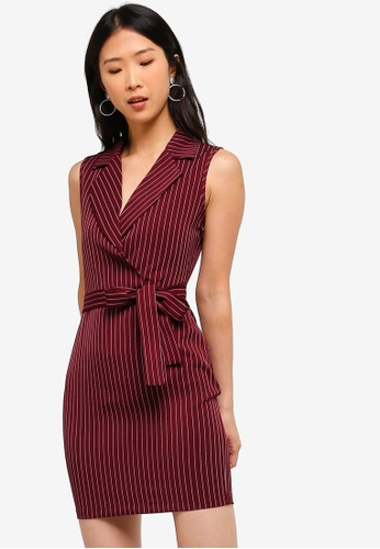 2eaa53c8a68 Buy ZALORA BASICS Basic Formal Lapel Dress Online on ZALORA Singapore