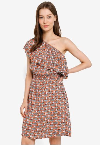 Compania Fantastica multi Salmon Dress 5F7A8AA4DCE1EAGS_1