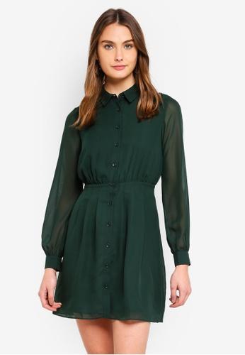 e68fc4660b5cb Buy WAREHOUSE Chiffon Pintuck Shirt Dress Online on ZALORA Singapore