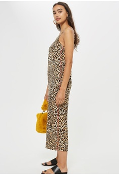 eaf6cd2b717 60% OFF TOPSHOP Petite Leopard Print Jumpsuit S  96.90 NOW S  38.90 Sizes 4  6 8