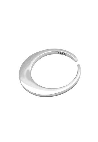 LYCKA silver LDR1222 S925 Silver Minimal Circle Ring BB599ACFD99DF8GS_1