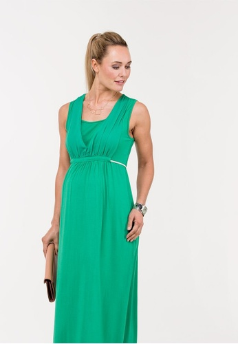 Bove by Spring Maternity green Knitted Sleeveless Bettina V Neck Dress 96CB8AA838EC09GS_1
