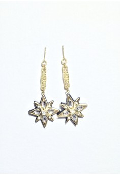 Retro Star Drop Earrings