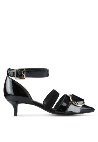 House of Avenues black Strappy Kitten Heels HO685SH0RRB4MY_1