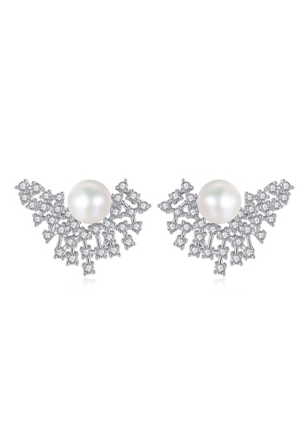A.Excellence white Premium White Pearl Elegant Earring DC2C7ACA801782GS_1
