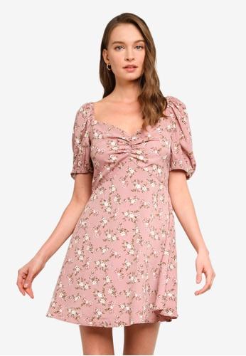 Sável pink Natania Mini Dress AAC22AABED78EBGS_1