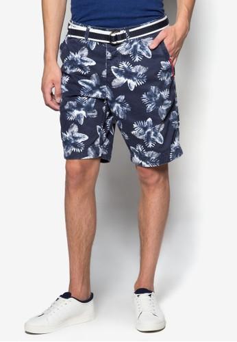熱帶風斜布短esprit台灣outlet褲, 服飾, 服飾