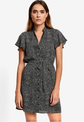 REUX black Eclipse Mini Dress 75B65AA401A77CGS_1