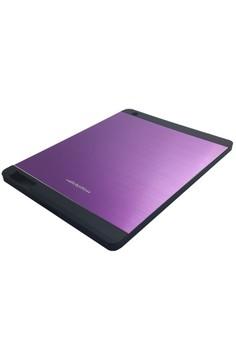 Sleek Metal Case for Apple iPad 2/3/4 (Purple)