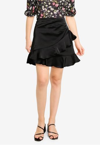 Supre black Celia Mini Frill Skirt 70888AAD8D42DDGS_1