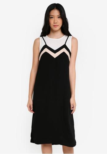 ZALORA black Strappy Two Piece Dress AA53FAA0F7BC60GS_1