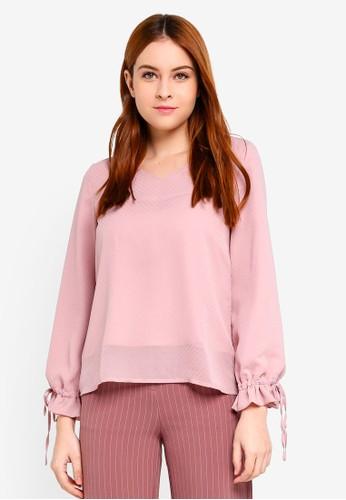Soonaru pink Lisa Blouse 317D5AA24654BDGS_1