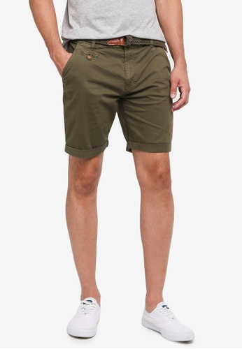 Indicode Jeans green Conor Shorts With Belt 4F797AA3104252GS_1