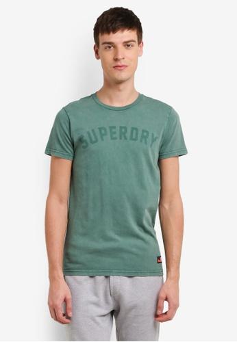 Superdry green Heritage Wash Tee SU137AA0SI1HMY_1