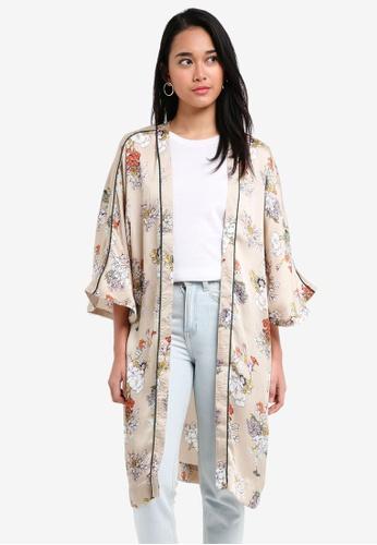 ONLY grey Eva Kimono Cardigan 569D3AA04B95C4GS_1
