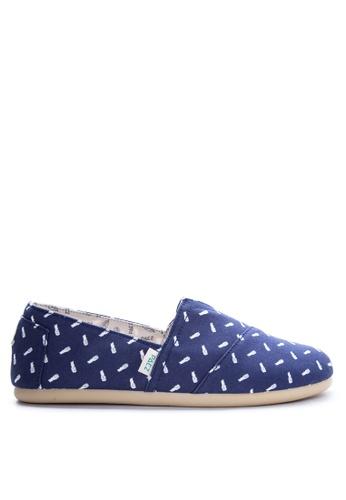 Paez blue Print Men's Sneakers PA524SH07IYQPH_1