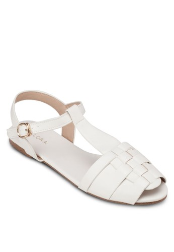 編織zalora 男鞋 評價露趾平底涼鞋, 女鞋, 魚口鞋