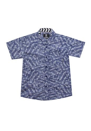 Spyderbilt blue Digit Kids Shirt 3787AKAF6B8DE9GS_1