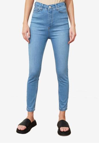Trendyol blue High Waist Skinny Jeans 39928AAFFBF9A0GS_1