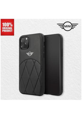 "Mini Cooper black Mini Cooper Casing iPhone 11 Pro 5.8"" - PU Leather Crossing - Black 45C5BES7919134GS_1"