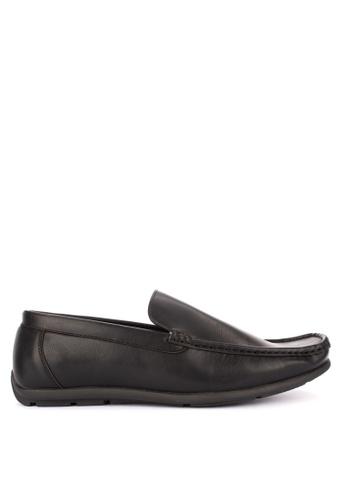 Italianos black Roman Loafers D5E4DSH693F504GS_1