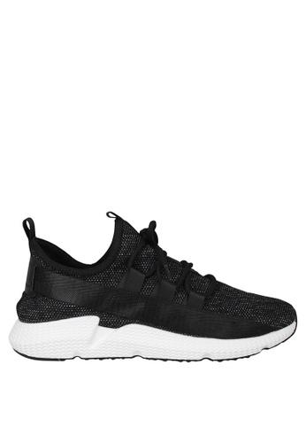Tomaz black Tomaz TR1006 Running Sneakers (Black White) D6209SHBFABE1AGS_1