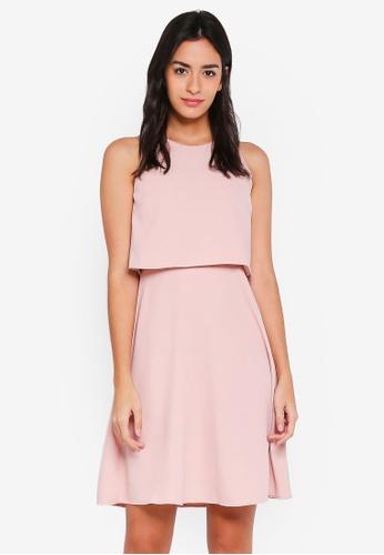 ZALORA pink Bridesmaid Double Layer Mini Dress 611C0AA2A9E71FGS_1