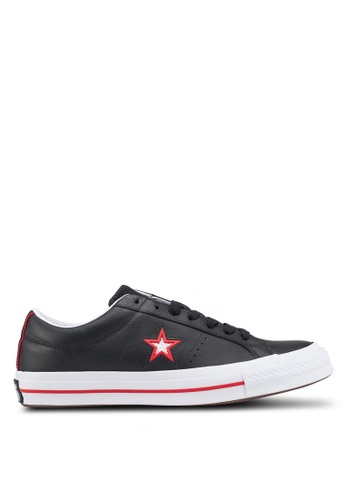 Converse black One Star Levels Ox Sneakers C5D7DSHC23F7B5GS_1