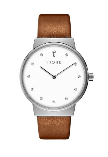 Fjord brown Fjord Women's Genuine Leather Watch - FJ-6046-01 8D826AC23EC575GS_1