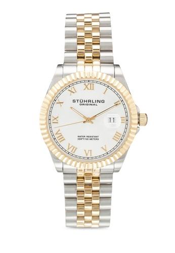 Stuhrling Original silver and gold Stuhrling Coronet 599g.02 Watch F3DF3AC0BDC4F1GS_1